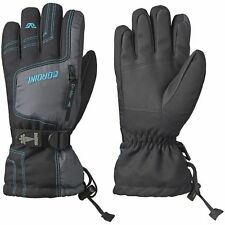 GORDINI MENS DRIMAX GAUNTLET IV BLACK/GREY/TEAL SKI SNOWBOARD GLOVES ALL SIZES