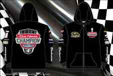 Kevin Harvick Zip Hoodie Nascar Champion Black Sweatshirt Adult Mens