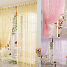 1PC Print Flower Voile Door Curtain Window Room Curtain Divider Lucky