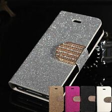 New Bling Leather Magnetic Flip Wallet Cover Case W/Stand For Nokia Smart Phones