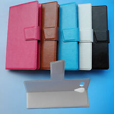 Stand Folder Flip Folio PU Leather Case Cover for Medion Life P4502 MD 98942