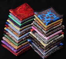 RC Handkerchief 100% Natural Silk Satin Mens Hanky Wedding Party Pocket Square