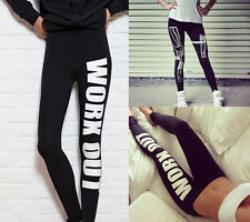 Machine Gun/Work Out Print Black Soft Cotton Leggings Tight Pants Woman lady one