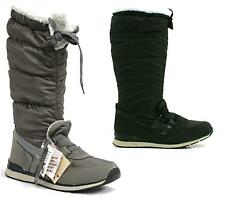 Ladies Flat Fur Lined Quilted Grip Sole Knee High Winter Snow Hiking Boots Size