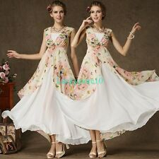 New Lady Chiffon Sleeveless Long Formal Prom Dress Party Bridesmaid Evening Gown