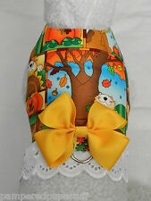 DOG CAT FERRET Harness~THANKSGIVING Sun Flower Autumn YELLOW Bow & Lace Trim