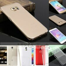 Crystal Clear/Transparent Slim Thin Hard PC Plastic Snap On Case Cover For Phone