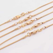 Bulk Wholesale Lots 5pcs 18K Yellow Gold Filled Snake Chain Necklace 16-30 inch