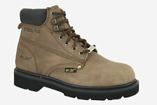 HYPARD ADTEC 1981-M Men Brown Steel Toe Nubuck Medium Width Steel Toe Ankle Boot