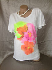 Nwt American Eagle Neon Floral Graphic T Shirt Blouse Top GORGEOUS!