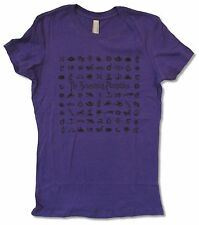 "SMASHING PUMPKINS ""SYMBOLS"" GIRLS JUNIORS PURPLE T SHIRT NEW OFFICIAL"