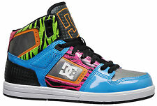 New - DC DESTROYER HI Womens High Top Skate Shoes Fashion Sneakers - 80's Zebra