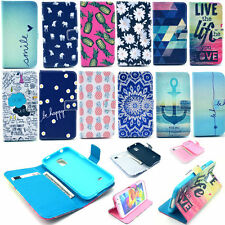 Folio Flip Stand Paint Wallet Card Magnetic Case Cover For Samsung Apple iPhone