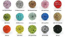 10pc 8MM 10mm 12mm Crystal Beads Pave Disco Ball Spacer Charm Beads For Bracelet