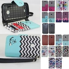 ZTE Zinger Z667 Prelude 2 Whirl 2 Hybrid PU Leather Wallet Pouch Case Flip Cover