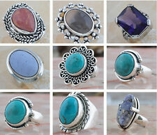 Sale New Year, Purple Topaz Sea Sediment Gray Agate Painting Stone Silver Ring