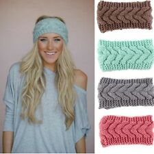 Fashion Crochet Headband Knit Hairband Flower Winter Women Ear Warmer Headwrap