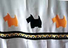 Scottish Terrier Black + Wheaten Dog Shower Curtain *Your Choice of Colors*