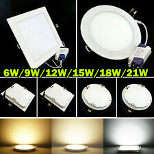 6W 9W 12W 15W 18W 21W LED Ceiling downlight plafonnier Blanc Encastrable Ampoule