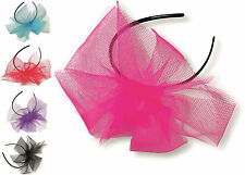 80s Alice Hair band HAIRBAND with Neon Flo Tutu NET Bow Hen Party Fascinator UK