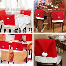 Christmas Baubles, Santa Claus Dinner Table Chair Cover Party Decoration Gift CA