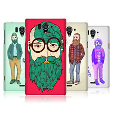 Head CASE DESIGNS vieux HIPSTERS COQUE POUR Sharp Aquos Zeta sh-04f LTE