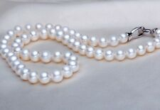 "80%OFF 7-8mm 16"",17"",18"",19"",20"",21"",22"" Akoya White Pearl Necklace Handmade"