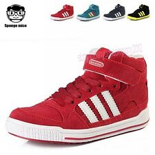 Boy's Girl's Kids Stripe Children Sneakers Winter Shoes Casual Snow Boot T122