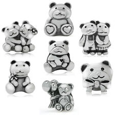 925 Sterling Silver BEAR European Charm Bead