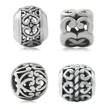 925 Sterling Silver HEART Filigree European Charm Bead