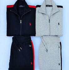 POLO RALPH LAUREN FULL ZIP TRACK JACKET AND PANT TRACK SUIT GRAY OR BLUE SZ: ALL