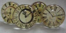 Vintage Antique Style Glass Clock Face Drawer Cupboard Door Knob Handle Pull