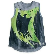 Disney Store Maleficent Ladies Gray Studded Tank Top Shirt  XL 2XL Sold Out NWT