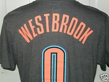 New Oklahoma City Thunder Russell Westbrook #0 Majestic Name & # Player T-Shirt
