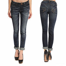 Ladies Womens Slim Skinny Stretchy Denim Trousers Low Waisted Jeans Jeggings New