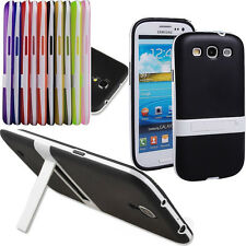 Protective Hybrid Impact Kickstand TPU Cell Case Cover Stand for Samsung Galaxy