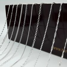 "Wholesale Jewelry 925 sterling silver Chain 16""-30"" necklace 15 Style Choice"