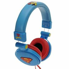 Character Superman Unisex Headphones Adjustable Head Strap Volume Control