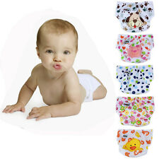 Cute Infant Adjustable Reusable Washable Leakproof Cloth Nappy Diaper Excellent