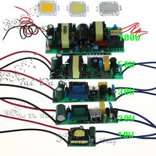 10W 20W 30W 50W 100W White RGB LED Light Chip Lamp Bulb With Driver Power Supply