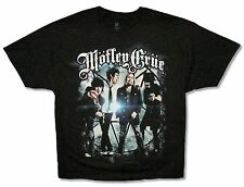 "MOTLEY CRUE ""GROUP PHOTO 2012"" BLACK T-SHIRT NEW MOTLEY CRUE OFFICIAL TOUR ADULT"