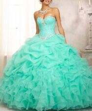 2015 Quinceanera Formal Prom Party Ball Gown Evening Dress 2 4 6 8 10 12 14 16