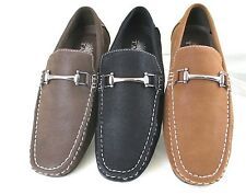 Mens Shoes Casual Driving Moccasins Loafer Slip on Synth Leather New
