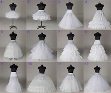 12 Styles Bridal Petticoat White Wedding Dress Crinoline/Slips/Underskirt