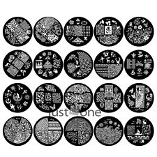 JQ- Series Snowflake Owl Nail Art Image Stamp Stamping Plates Manicure Template