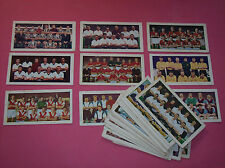 Soccer Bubble Gum Teams vintage football colour club cards Star footballers