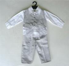 BABY BOY OUTFIT, Light Grey Special Occasion Suit, Wedding,Christening, Age 0-3