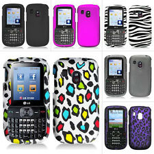 For LG 500G Straight Talk Tracfone Net10 Color Rubberized Design Hard Case Cover
