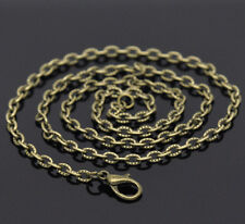 Wholesale Lots Bronze Tone Textured Chain Necklace 0.7mm thick 20""