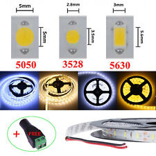 3528 5050 5630 5M LED Flexible Strip Light Warm Cool White DIY SMD Xmas Tape 12V